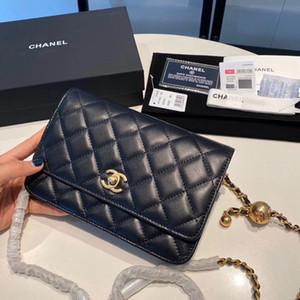 borsa 7A di fascia alta borsa di qualità su misura di stile casuale accessori del metallo dell'oro di business della moda della signora classica con tracolla.