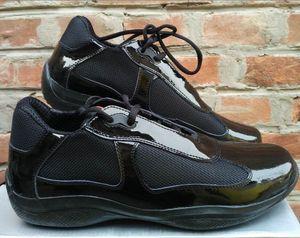 Brand New прибытия Mens черный Повседневная обувь Комфорт Мода тапки Спортивная обувь для Man лакированной кожи с сеткой дышащая обувь 39-47
