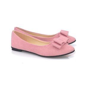 scarpe basse di prezzi economici delle più nuove signore di design in pelle scamosciata rosa belle donne scarpe casual piatte