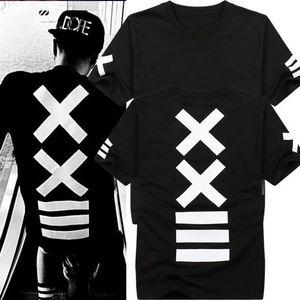 Mode Camisetas hombre T-shirts mode hba Hip Hop T-shirt Streetwear Roche T-shirt homme chemise Bandana imprimé graphique Swag T-shirts hommes