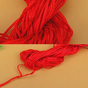 Hot Sale 27meters RED en coton ciré cordon cirée fil cordon cordes Collier Bracelet Corde Perle Bricolage Making Bijoux pour Shamballa Bracelet