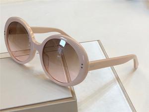 Acetato bege óculos de sol redondos Brown Shaded 40065 Sonnenbrille Mulheres Oval óculos gafa de sol New com caixa