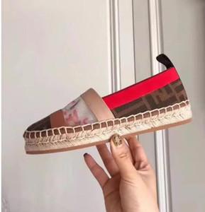 Donne appartamenti espadrillas moda marchio di spessore inferiore ins luxuriousLace lettere di panno giuntura originale sexy Ladies drive pigro mocassini scarpe