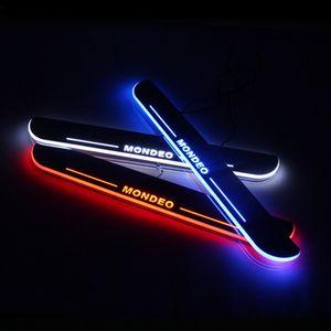 الانتقال LED ترحيب دواسة السيارة جرجر لوحة دواسة عتبة الباب المسار ضوء لفورد مونديو 5 MK5 2013-2019