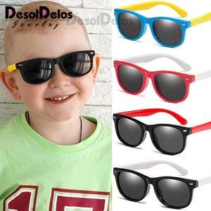 Desoldelos Çocuk Polarize Güneş Gözlüğü TR90 Bebek Klasik Gözlük Çocuk Güneş Gözlükleri Erkek Kız Güneş gözlüğü UV400 óculos D322 kBQlZ