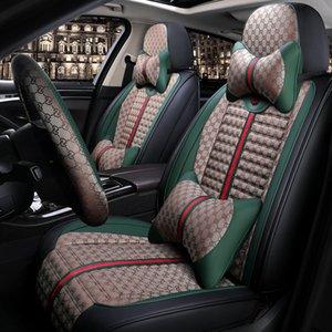 Nueva cubierta del amortiguador de lujo de la moda asiento de coche de lino toda cubierta de asiento de coche para las estaciones de BMW, Mercedes, Mazda, Toyota, Kia talla universal