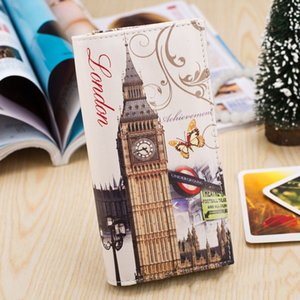 2019 new iron tower printing women's wallets women's wallets buckle card holder long name
