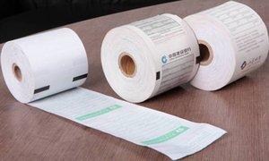 """rouleaux de papier thermique pour l'impression personnalisée POS / ATM / machines Débit papier caisse enregistreuse pour la chaleur de réception sensible 57x50 / 80x80 / 2 1/4"""" X85'"""