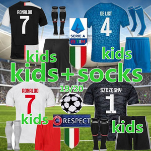19 20 Juventus kids kit soccer jersey 2019 2020 child Football Shirt uniform