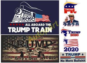 best seller Donald Trump 2020 Car Stickers Bumper Sticker trump locomotive stickers Train window Sticker America flag sticker trump gun