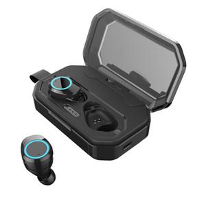 Oreillettes X6 Pro 5.0 TWS Oreillette Bluetooth sans fil écouteurs Etanche IPX7 écouteurs stéréo 3000mAh LED Smart Power Bank 20PCS / LOT