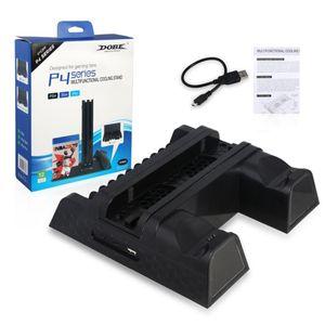دوبي PS4 / PS4 Slim / PS4 Pro الرأسي حامل مع مروحة تبريد برودة مزدوجة تحكم شاحن شحن محطة للبلاي ستيشن 4 DHL