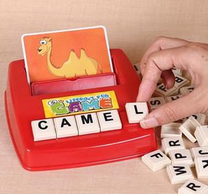 Mots éducatifs pour enfants Cartes jouets Apprendre l'anglais Jeu de mots Montessori mot machine Alphabet Puzzle Alphabet Lettres Carte d'alphabétisation