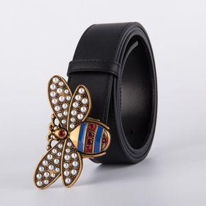 Ceintures Bee Boucle Hommes de haute qualité femmes Punk véritable ceinture cuir véritable Homme H Bracelet pour Jeans
