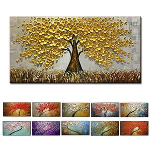 Tuval Ev Dekorasyon Salon Resimleri Handpainted On Wall Art Soyut Resimler Modern Yağlıboya Resim HF0010 SH190919 Çerçeveli