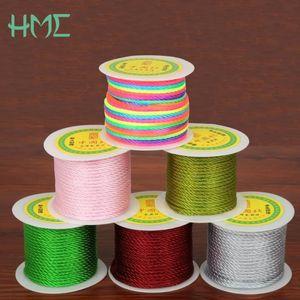 HMC 3MM 27yard / roll 16 colores de nylon nudo chino Macrame cordón cuerda Craft Hacer Hilo de resultados de la joyería NUEVA cuerda