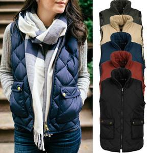 El más nuevo estilo de las mujeres sin mangas Sping otoño invierno caliente grueso de alta calidad chaleco chaleco de la capa más el tamaño S-3XL