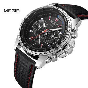 Megir orologi da uomo top brand di lusso al quarzo orologio da uomo moda casual luminoso orologio impermeabile relogio masculino 1010 J190715