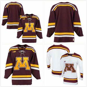 Personalizzato Minnesota Golden Gophers Tyler Nanne Jersey 2 Robbie Stucker 3 Jonny Sorenson 11 Jackson LaCombe 10 Jaxon Nelson 24 Marooney 12 S-3XL