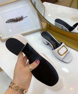 2020 zapatillas nueva vlogo bajo negro de tacón sandalias de las mujeres de moda rw0s0m60 HWS 0No Z06