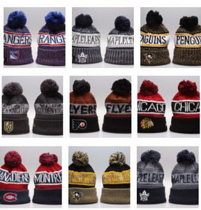 Kış Beanie Şapka Erkekler için Örme NHL Yün Şapka San Jose Sharks ile Gorro Bonnet Beanie Boston Bruins Pittsburgh Penguenler Kış Sıcak Kap