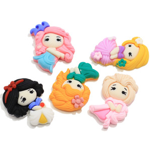 Princesse Kawaii Flatback Cabochons belle petite princesse Résine Slime Charms Cabochons Flatback cheveux Bow Craft Centre