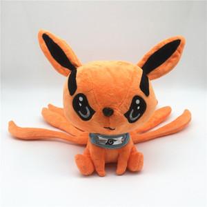 NARUTO Los animales de peluche de alta calidad de la muñeca de Kyuubi Kurama Juguetes 25CM juguetes de peluche Los mejores regalos para los juguetes para niños