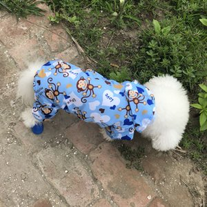Cute Monkey Puppy Dog Raincoat for Small Dogs Breathable Mesh Lining Pet Rainwear Clothes Outdoor Waterproof Doggy Outfits