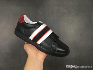 Küçük arı Ayakkabı siyah yeni Arı Web İşlemeli Erkekler Kadınlar ACE Gerçek Deri Tasarımcı Sneakers Beyaz İyi Moda Günlük Ayakkabılar