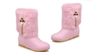 2019 Women's boots in winter with New style flat bottom round head@6002