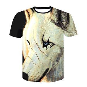 3D Animal Print T-shirt d'été Mode Tshirt 3D Hommes Hauts O-cou à manches courtes T-shirt de loup Taille Plus