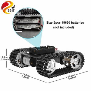 Akıllı Robot Tank Şasi Araç Platformu T101 Dual DC 12V 350rpm Motorlu İçin Arduino DIY Robot Oyuncak Part Paletli