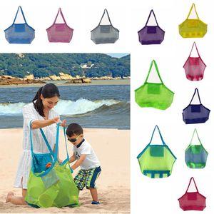 Grande capacidade de sacos de praia Crianças areia Longe Malha Sacola Kids Brinquedos Toalhas Shell Coletar sacos de armazenamento dobra compras bolsas AAA2014N
