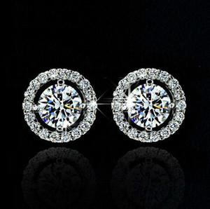 New Arrival Best Friends 18K White Gold Plated Earings Big Diamond Earrings for Women White Zircon Earrings YD0064