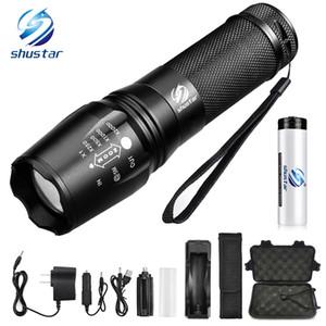 Lampe de poche à LED Lampe de poche tactique 8000 lumens XM-L2 / T6 Zoomable 5 Modes en aluminium Lanterna Lampe de poche LED