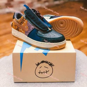 2020 new Xshfbcl Travis Scott shoes Hococal Cactus Jack Multi-Color 1s men women Running Shoes Canvas mens sports sneakers