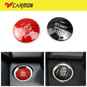 GTPARTS для Mazda Axela Atenza CX-3 CX-4 CX-5 MX-5 Аксессуары Наклейка Carbon Fiber Интерьер автомобиля Запуск двигателя Кнопка Обрезка Обложка