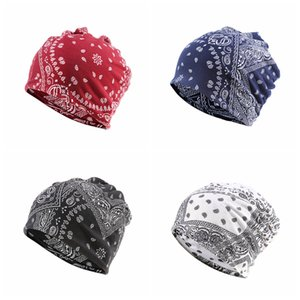 2 Paisley atkı şapka Bandana açık kap Windproof kulak manşonu kap çiçek baskı kazık başlığı Hip hop unisex moda hatsFFA4201 1'de
