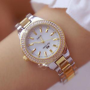 BS Bee Irmã Women Watch moda de alta qualidade Casual aço inoxidável impermeável relógio de pulso Lady relógio de quartzo presente para a esposa 2019