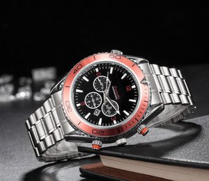 2019 Qualidade Sea horse Mens Relógios Top Luxury Full Steel Men Sports Business Luxury Watch 007 Orologi di lusso shock watch