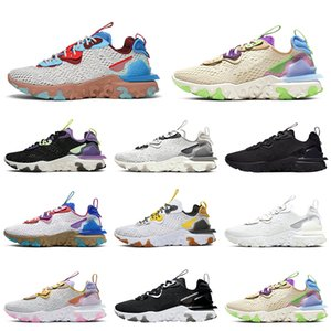 Discount React Vision Element 87 55 Mens Trainers Running Shoes Desert Oasis Men Women Designer Sports Sneakers Size 36-45