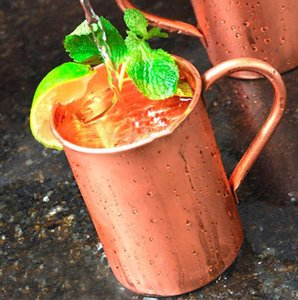 Pure Handle Copper Caneca Europeia American Style Moscow Mule Cocktail Drink Vidro Pure Copper Cup Restaurant Bar Fria Cup