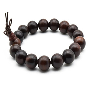 12 mm Zen Dear Unisex Natural Rosewood Prayer Beads Buddha Buddhist Prayer Meditation Mala Necklace Bracelet