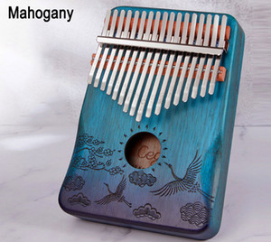 17 Keys Kalimba Thumb Piano Wood Mahogany Body Musical Instrument With Learning Book Perfect For Music Lover,Beginners,factory wholesale