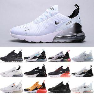 Nike Air Max 270 nouvelles femmes Bred Platinum Tint running Hommes Chaussures Triple Noir Université blanc rouge Tigre bleu olive Void sport Hommes Baskets Chaussures Sneakers