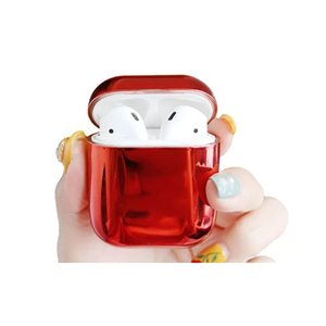Electroplated Hard Earphone Case for Airpods Case Shockproof Earphone Bag Protective Cover Charging for Airpod 2