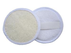 10 * 10cm Forme ronde naturelle loofah Pad Brosse pour le dos luffa éponge Bain Douche Spa Visage Corps Exfoliant Bain Accessoires XD23217