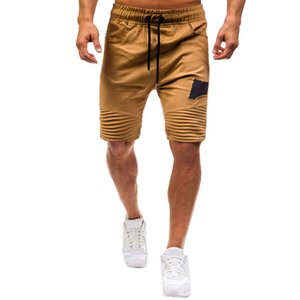 Plus Size Shorts Men Summer 2019 Elastic Drawstring Streetwear Casual Joggings Sport Solid Baggy Pockets Short W416