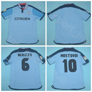 2003 Kits Camisa 2004 RC Celta de Vigo azul Jersey retro de los hombres de fútbol 10 Aleksandr Mostovoi 6 7 Berizzo VAGNER color del equipo de fútbol