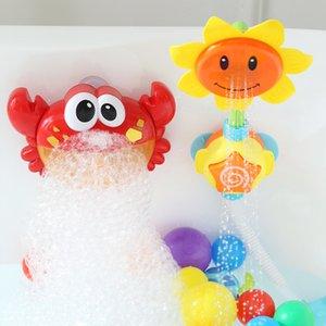 Ванной Вода Детские игрушки лягушки Пена машина Детские игрушки Bubble Crab Музыка Вспенивание машина Ванная Вода игрушки Подарочные